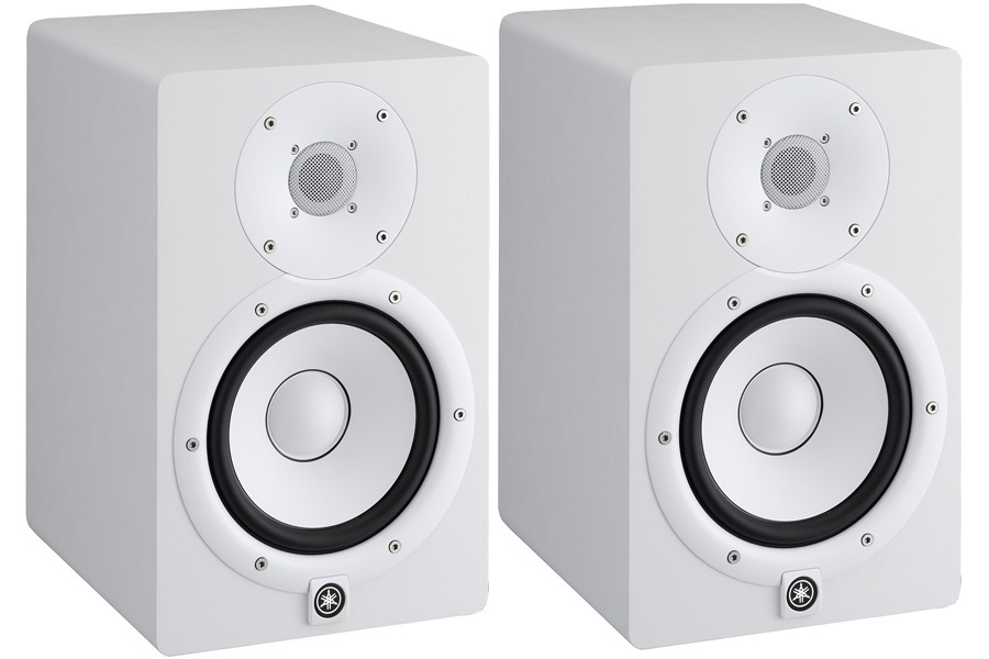 yamaha hs7 active studio monitors pair white rockbottom music. Black Bedroom Furniture Sets. Home Design Ideas